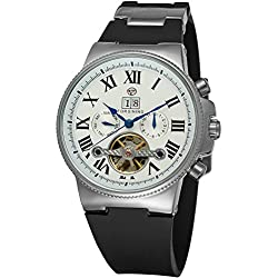 Forsining Men's Automatic Tourbillon Calendar WristWatch with Analogue Display FSG2373M3S1