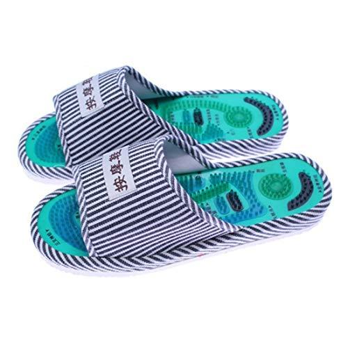 Striped Pattern Fußreflexzonenmassage Acupoint Slipper Massage Förderung der Durchblutung Entspannung Fußpflege Schuhe