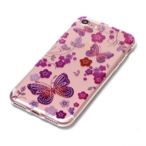 Per iPhone 7 Cover , YIGA Moda panda Cristallo Trasparente Silicone Morbido TPU Case Caso Shell Protezione Copertura Custodia Copertina per Apple iPhone 7 (4.7) XS60