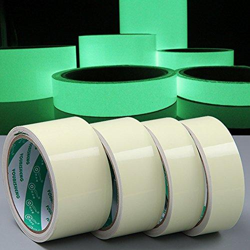Preisvergleich Produktbild EMOTREE Nachtleuchtend 25mm x 10M Fluoreszierend Phosphorband Markierungsband Leuchtband Glow in Dunkel
