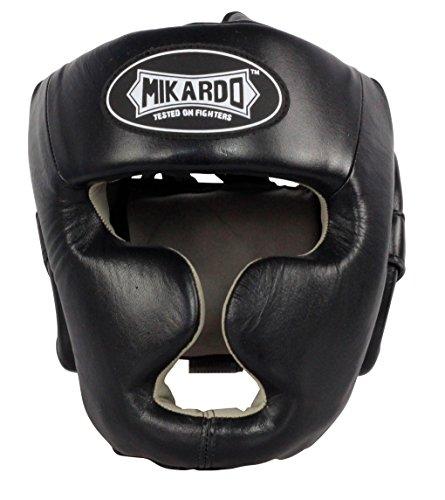 Mikardo Kopfschutz für Boxen, MMA, Sparring, Muay Thai Kickboxen, Schwarz, Large