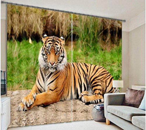 3D Vorhänge Tier Tiger Leopard Löwe Visier Raum Digitaldruck Schlafzimmer Wohnzimmer Dekoration Blackout Lärm Verringerung Warm Schutz Fenster Vorhänge , wide 2.03x high 2.41