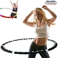Bakaji Hula Hoop Massage Magnetic Fitness Perdi Peso in poco Tempo Hoola Dance Fit Nero