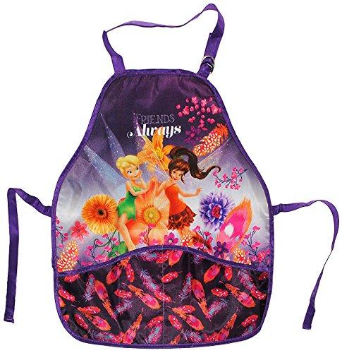 Kinderschürze Fairies Tinkerbell - mit 2 Taschen - Größenverstellbar Schürze für Mädchen beschichtet Kinder Fairy Schmetterling (Schmetterlings-schürze)