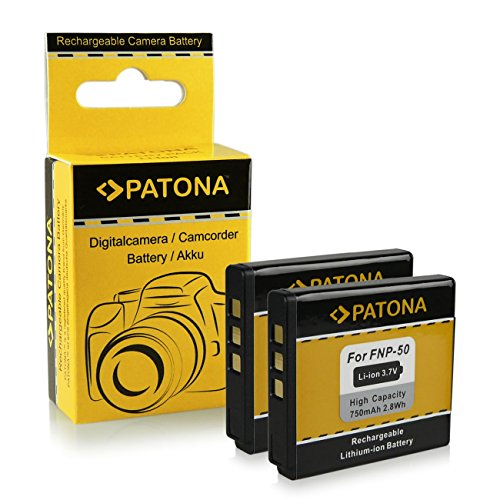 2x Batterie Fuji NP-50 | Kodak Klic-7004 | Pentax D-Li68 / D-Li122 pour Fujifilm FinePix F70EXR / F80EXR / F200EXR / F300EXR / F500EXR / F550EXR / F600EXR et bien plus encore... - Kodak EasyShare M1033 / M1093 / V1073 / V1233 / V1253 / V1273 - Pentax Q / Q10 | Pentax Optio A40 / S10 / VS20