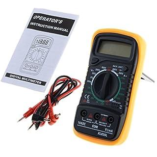 asdomo Digital Multimeter AC DC Voltmeter Amperemeter Ohmmeter Volt Tester Meter xl-830l