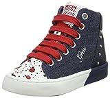 Geox Mädchen JR CIAK Girl C Hohe Sneaker, Blau (Jeans/Navy), 31 EU