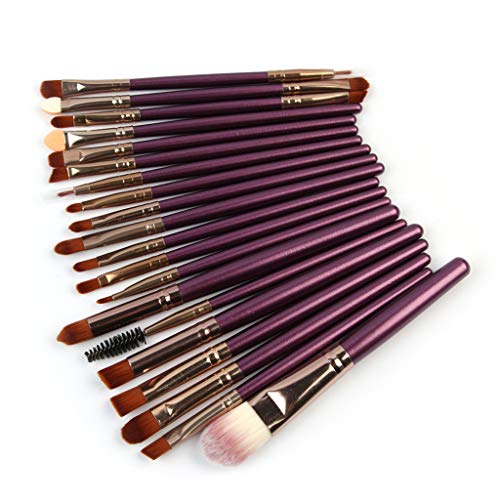 20pcs Makeup Pinsel Set Professionelles, Puder Foundation Lidschatten Eyeliner Lip Kosmetikbürste Matt Schminkpinsel Kosmetikpinsel Eyeshadow Gesichtspinsel elegantem Augen Pinselset Lippenstift