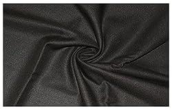 V Walkers Mens Poly Blend Solid Unstitched Trouser Fabric (1.30 Mtr_Brown_VST124)