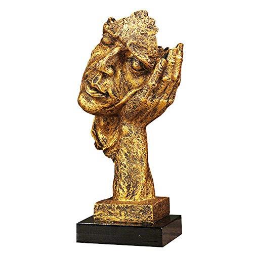 Symboat Hand Sculpture Character Sculpture Abstract Crafts Decoration Ornament Faux Metal Figure Statue Figure Sculpture -