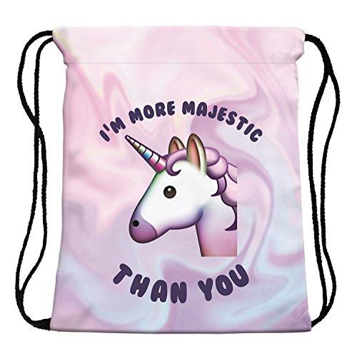 Imagen de leah de fashion® de perro y kitty unicornio cordón  bolsa con cuerda 3d sackpack para niños 39cm * 30cm , unicorn