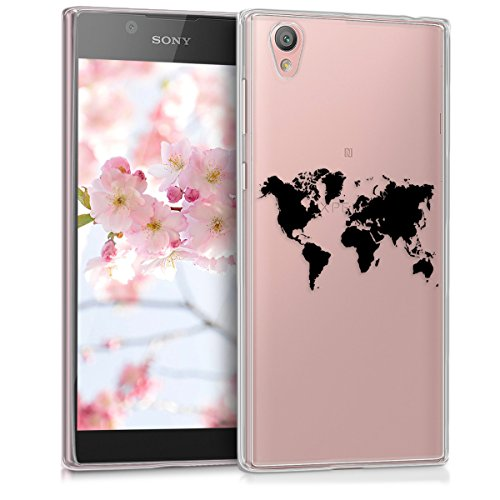 kwmobile Sony Xperia L1 Hülle - Handyhülle für Sony Xperia L1 - Handy Case in Schwarz Transparent