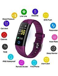 LIGE Fitness Trackers,Mode étanche Montres Connectée Moniteur de fréquence Cardiaque Bracelet écran Couleur,Femme Fitness Montre Surveillance du Sommeil Compteur de Calories Smart Watch Hommes Enfant