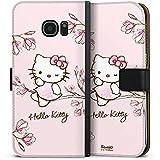 Samsung Galaxy S7 Edge Tasche Hülle Flip Case Hello Kitty Merchandise Fanartikel Magnolia