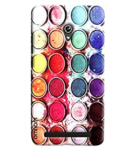 Omnam Paint Bucket Lying Designer Back Cover Case for Zenfone 6 A600CG