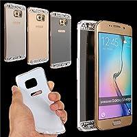Moppi Bling diamante specchio TPU cassa del gel molle di bordo Samsung Galaxy S6