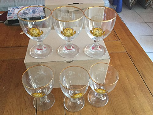 Lot de 6 verres a biere grimbergen bord boré 25cl neuf