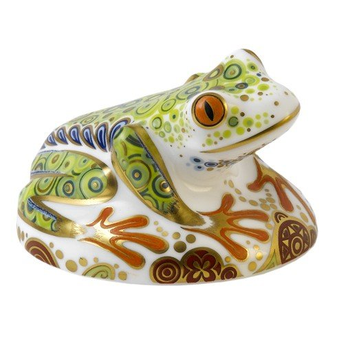 Royal Crown Derby Hop the Frog Paperweight