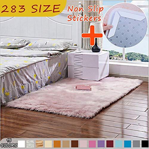 MODKOY Teppich billig Waschbar Pflegeleicht Prime Shaggy Flachflor Anti Rutsch Hochflor Langflor Flauschige Weiche farbecht Lang für Boden Home Decorator 260x380cm Pulver