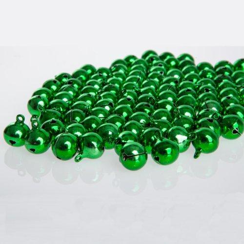 100 laute grüne Glöckchen Schellen mit Öse - ca. 17x13 mm - Aus Kupfer - Kleenes Traumhandel®