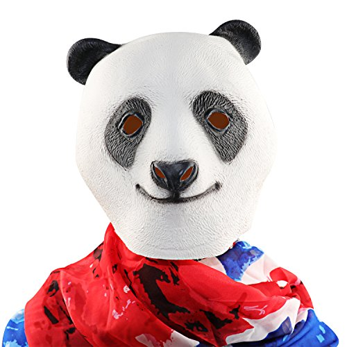 XIAO MO GU Halloween Maske latex Panda Tiermaske Kostüm