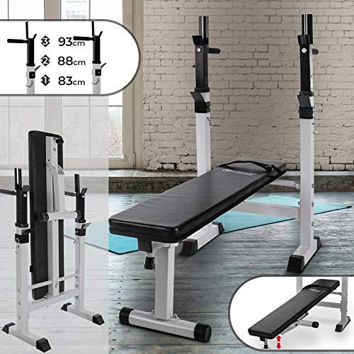 Physionics - Panca Fitness Panca Pesi Multifunzionale Panca Addominali con Portabilanciere