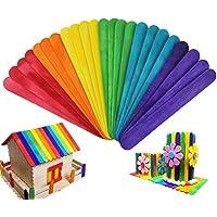 HTINAC Palos de Colores, Palitos de Madera Seguro y No Tóxico para Desarrollar la Capacidad Práctica de los Niños y Regalo Ideal para Niños(100pcs)