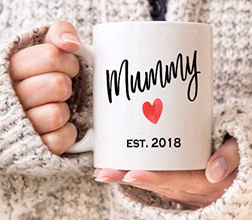 Maman est 2018 Mug NEUF Maman Cadeau Cadeau de Nouvel momie Coffret cadeau pour femme nouveaux parents la fête des mères Mum to Be Mug cadeau de grossesse Baby Shower Cadeau