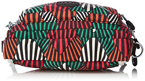 Kipling Multiple Borsa a Tracolla, Donna, 20x13x7.5 cm (L x A x P) Multicolore (Tropic Palm Ct_29J)