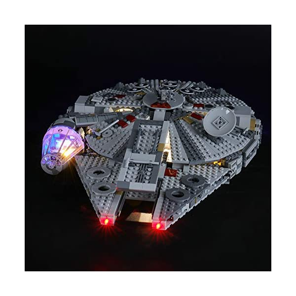 BRIKSMAX Kit di Illuminazione a LED per Lego Starwars Millennium Falcon,Compatibile con Il Modello Lego 75257 Mattoncini… 2 spesavip
