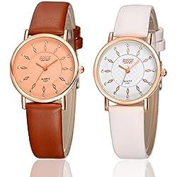 Summer Style Quartz Waterproof Watches Fashion & Casusl Women Watch Ladies Luxury Brands Faux Leather Strap Wristwatches YSB004