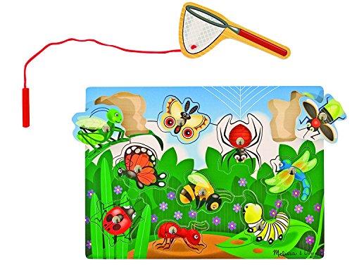 Melissa & Doug Magnetisches Spiel aus Holz - Insekten fangen (10 Teile)