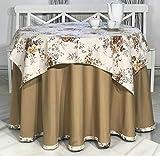 INUSUAL Victoria Jupe ou Linge de lit d'été Rond 90 x 75 cm Camel
