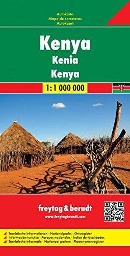 Kenya 1:1.000.000: Wegenkaart 1:1 000 000 di Freytag-Berndt und Artaria KG