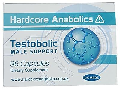 Testobolic Testosterone Booster Male Support Test Boost for Men D-Aspartic Acid DAA Maca L-Arginine Tribulus Terrestris Shilajit 500 mg 96 Capsules from Optimum-FX.com Supplements Ltd
