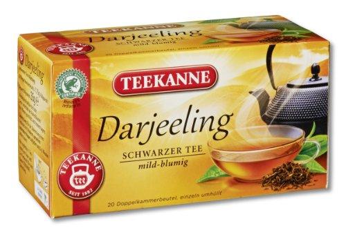Teekanne Darjeeling Schwarztee 20 Beutel, 4er Pack (4 x 35 g Packung)