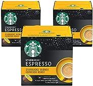 Starbucks Dolce Gusto Blonde Espresso Roast Pack Of 3-36 Capsules
