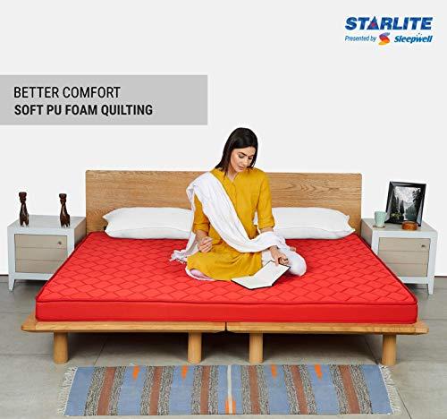 Sleepwell Starlite Discover Firm Foam Mattress (72x48x4) Image 4