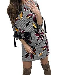 BBestseller-Vestidos Fiesta Vestir Ropa Falda Mujer Otoño Falda Midi de Cintura Larga de Manga