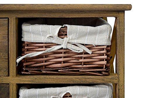 Credenza Mobile Per Cucina : Rebecca mobili credenza mobile multiuso cassetti ceste legno