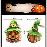 BESTOYARD Halloween Kürbis Laterne Jack-o-Laterne Dekoration Scary Modell mit batteriebetriebenen Figur Statue Spukhaus Dekoration - 6