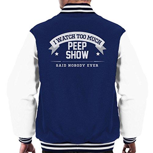 I Watch Too Much Peep Show Said Nobody Ever Men's Varsity Jacket (Varsity Dobby Jacket)