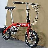 PKJI Bicicleta Plegable de 18 Pulgadas, Ideal para Andar en Bicicleta y Caminar por la Ciudad, Cuadro de Aluminio con Amortiguador, transmisión de Velocidad Variable, Modo