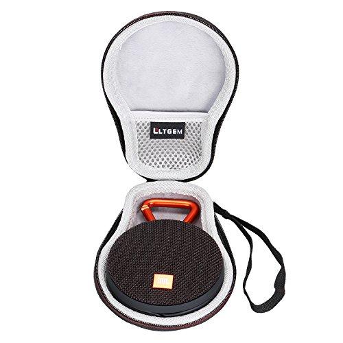 LTGEM EVA Hard Case Travel Sac de rangement de transport pour JBL Clip 2 Enceinte Etanche Ultra-Portable Bluetooth Compatible avec le câble USB et le chargeur.