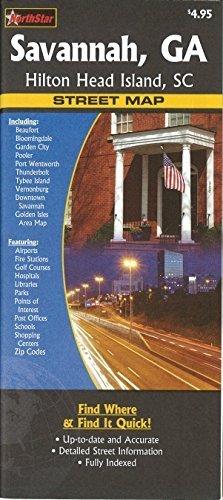 Savannah, GA, Hilton Head Island, SC street map by The Seeger Map Company Inc. (2007-01-01)