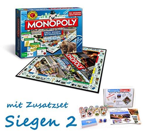 Monopoly Mega Kreis Siegen-Wittgenstein Siegen Siegerländer Brettspiel Gesellschaftsspiel mit Zusatzset