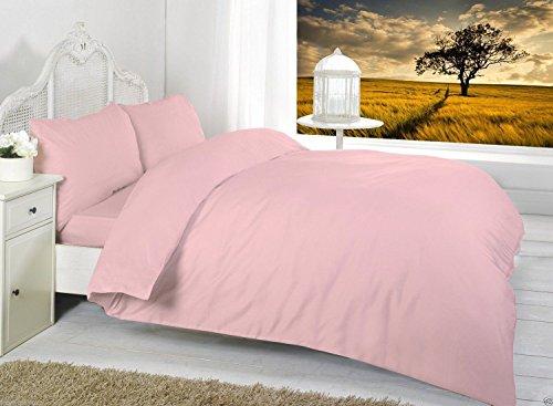 Luxus flach Blatt von bedway ~ 68Pick Polycotton bietet Fantastische Weichheit und Beständigkeit | erhältlich in 17Attraktive Uni Gefärbt Farben, dusky pink, King Size (Billig Picks)