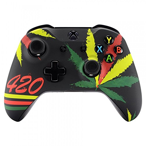 Xbox ONE S und X Controller Oberschale (Cannabis 420)