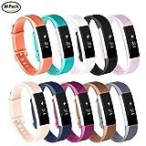 AdePoy Armband für Fitbit Alta und Fitbit Alta HR, TPU Silikon Verstellbare Ersatz-Sportbänder für Fitbit Alta/Alta HR