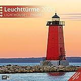 Leuchttürme 2020, Wandkalender / Broschürenkalender im Hochformat (aufgeklappt 30x60 cm) - Geschenk-Kalender mit Monatskalendarium zum Eintragen